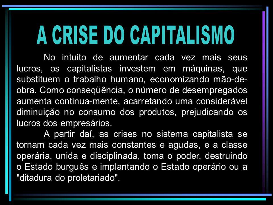 No intuito de aumentar cada vez mais seus lucros, os capitalistas investem em máquinas, que substituem o trabalho humano, economizando mão-de- obra. C