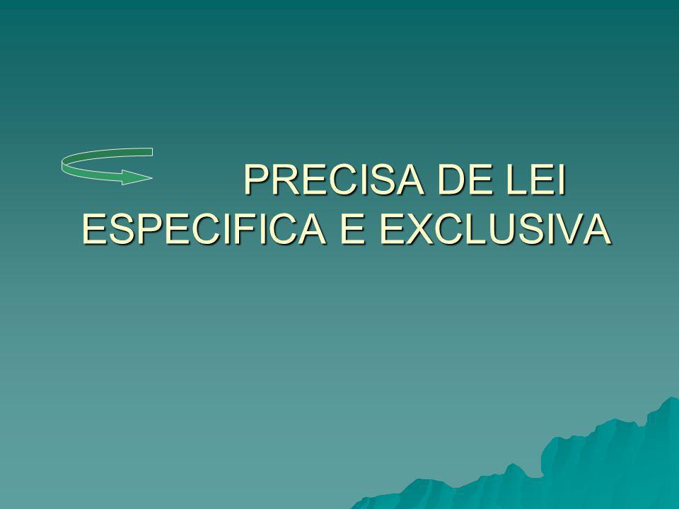 PODE SER UMA LEI DA ESFERA: FEDERAL FEDERAL ESTADUAL ESTADUAL MUNICIPAL MUNICIPAL