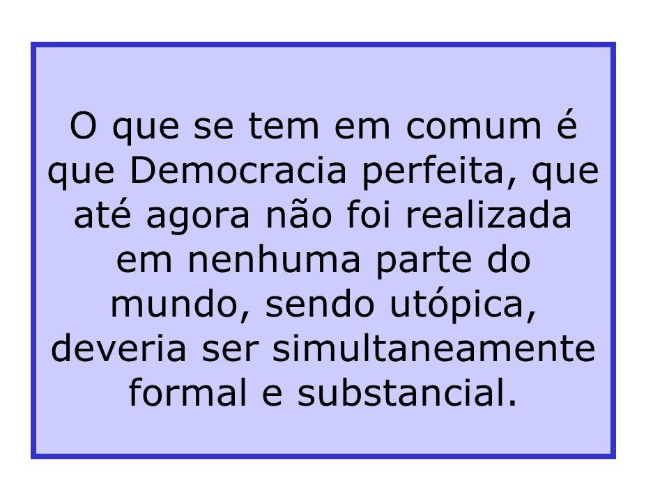 Democracia Governo do povo e para o povo ( segundo uma velha fórmula) Comportamentos universais, tomada de decisão de conteúdos diversos Certos conteú
