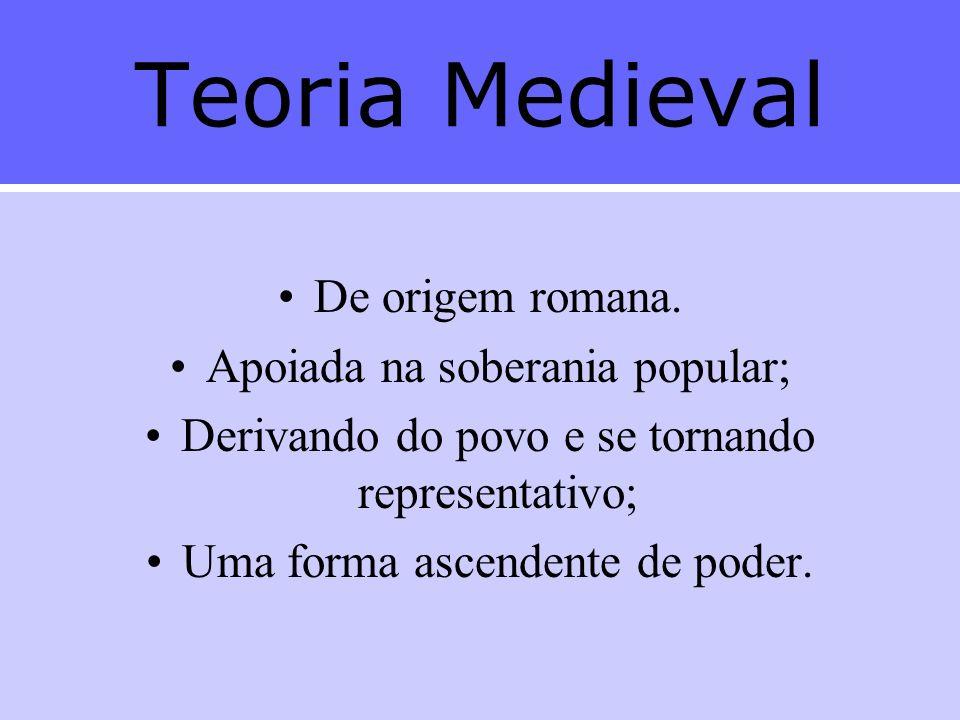 Teoria Medieval De origem romana.
