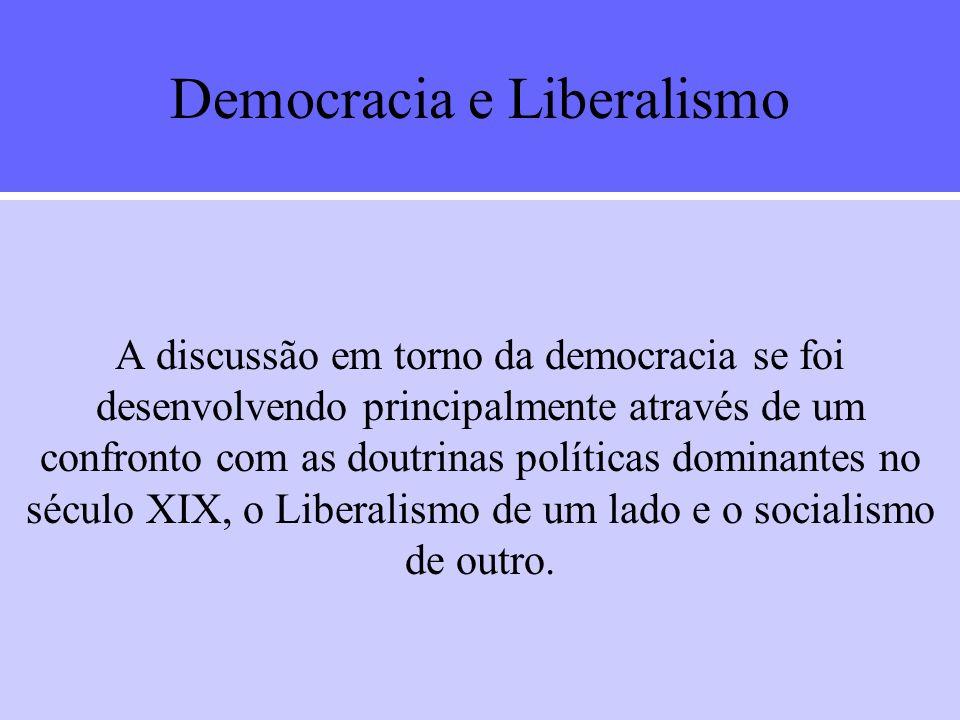 A D DD Democracia e... LIBERALISMO SOCIALISMO ELITISMO