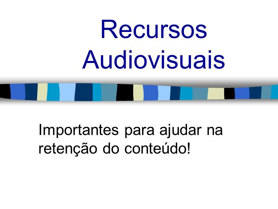 Recursos Audiovisuais Importantes para ajudar na retenção do conteúdo!