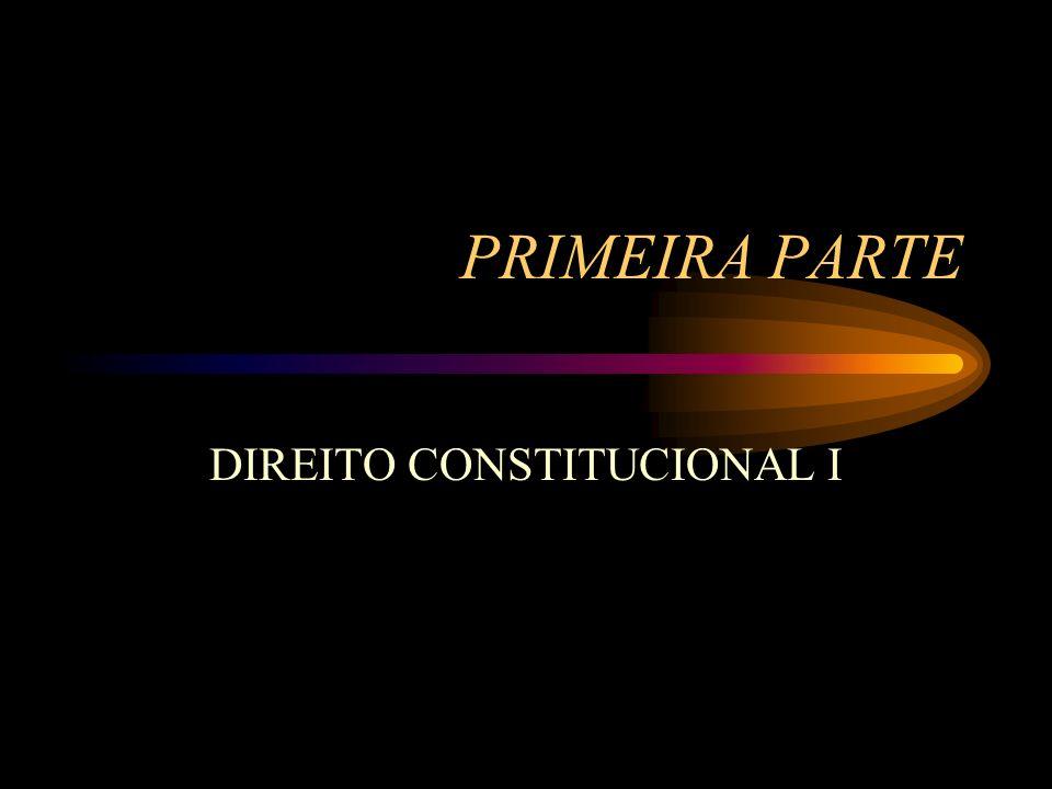 PRIMEIRA PARTE DIREITO CONSTITUCIONAL I