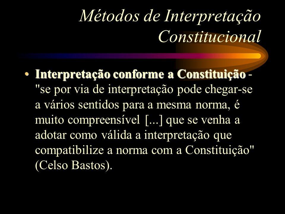 Métodos de Interpretação Constitucional Interpretação conforme a ConstituiçãoInterpretação conforme a Constituição -