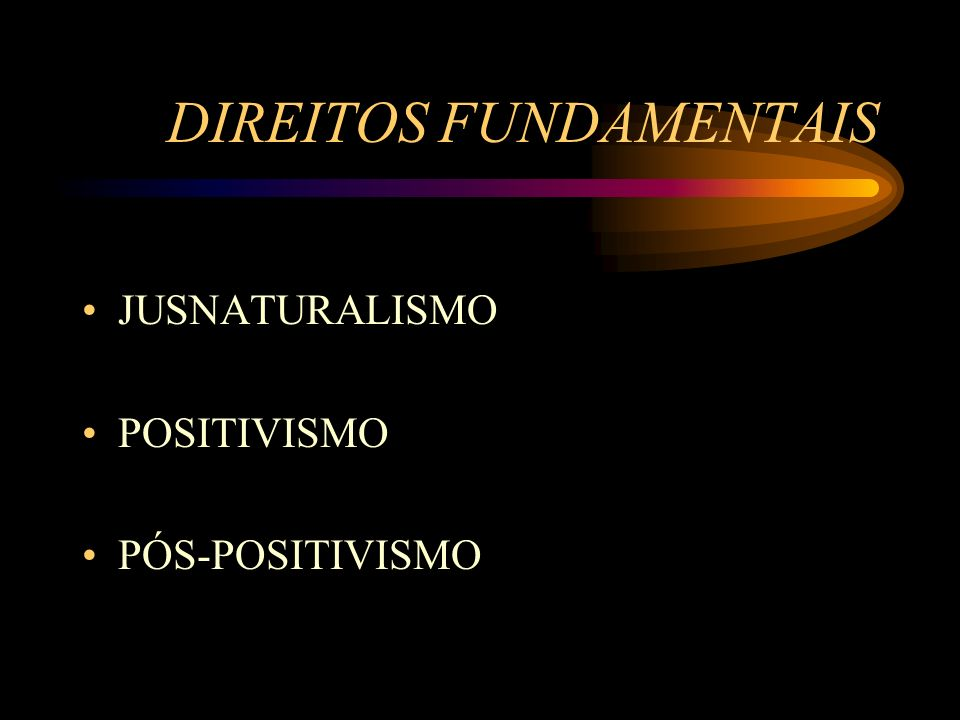 DIREITOS FUNDAMENTAIS JUSNATURALISMO POSITIVISMO PÓS-POSITIVISMO