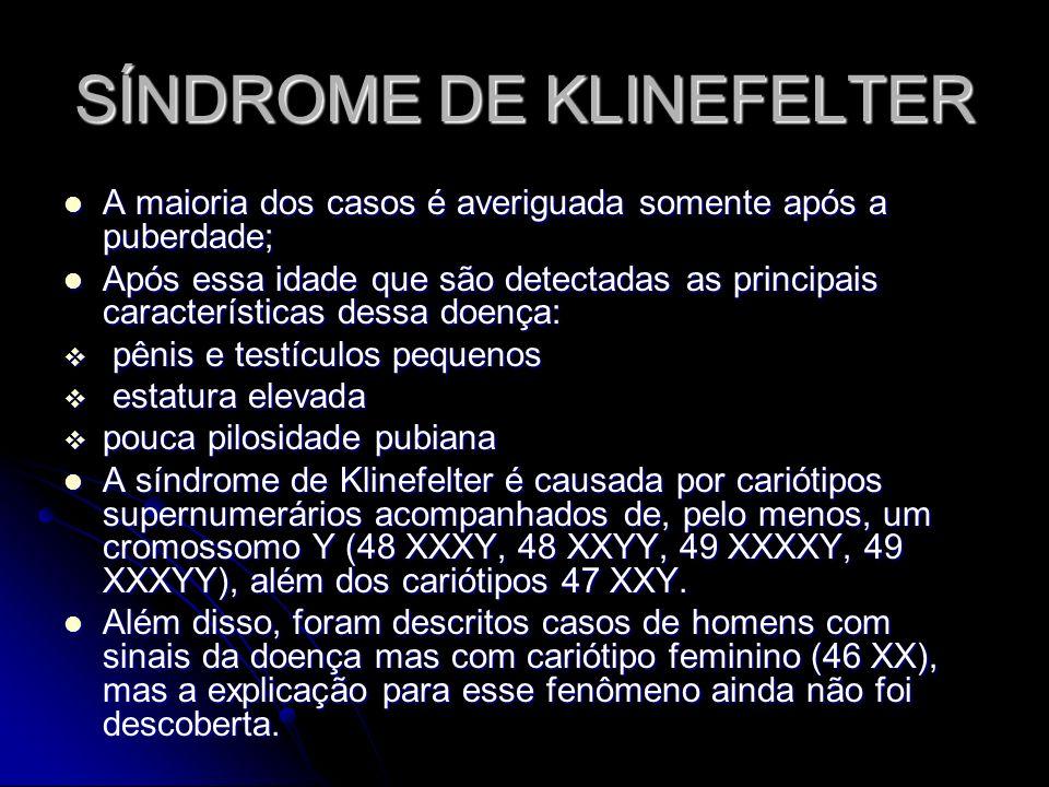 ADULTO COM SÍNDROME DE KLINEFELTER