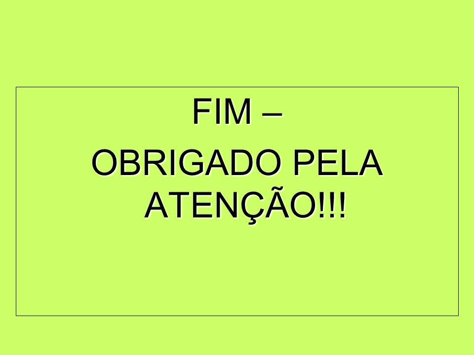 FIM – OBRIGADO PELA ATENÇÃO!!!