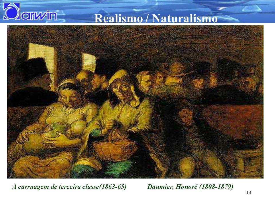 Realismo / Naturalismo 14 A carruagem de terceira classe(1863-65) Daumier, Honoré (1808-1879)