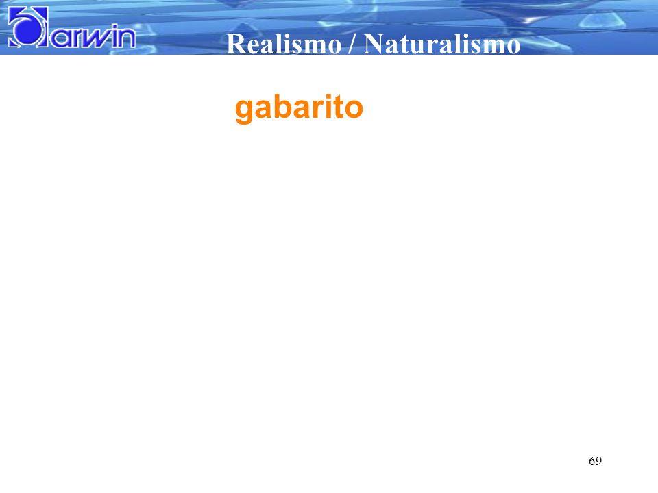 Realismo / Naturalismo 69 gabarito