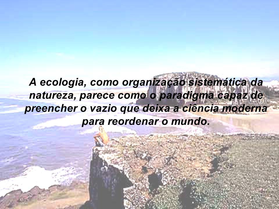 A ecologia, como organização sistemática da natureza, parece como o paradigma capaz de preencher o vazio que deixa a ciência moderna para reordenar o mundo.