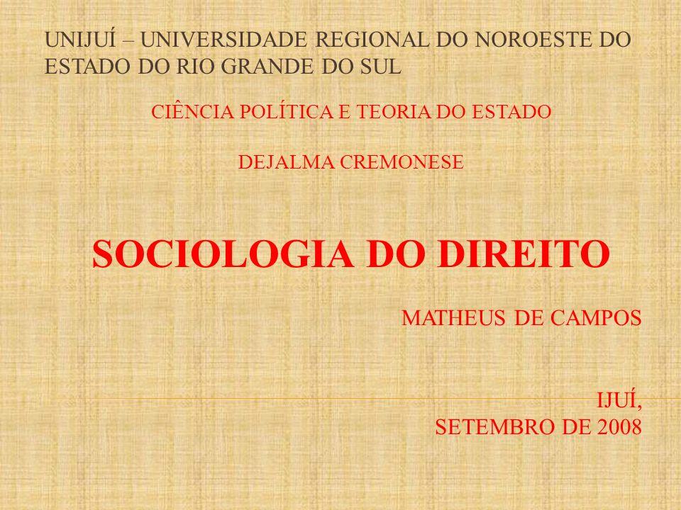 A sociologia do direito (ou sociologia jurídica) é um ramo da sociologia que busca descrever e explicar o fenômeno jurídico como parte da vida social.