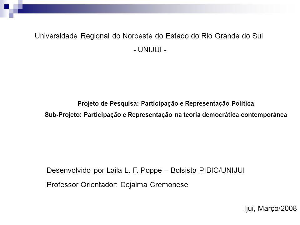 Os Partidos Políticos David Fleischer In. Avelar. Cintra. 2004