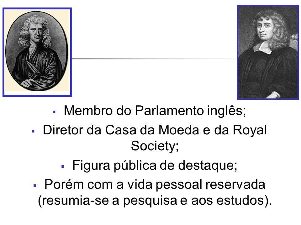 Membro do Parlamento inglês; Diretor da Casa da Moeda e da Royal Society; Figura pública de destaque; Porém com a vida pessoal reservada (resumia-se a