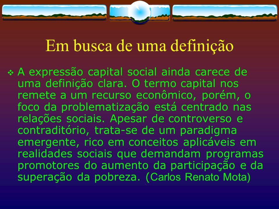 Capital Social pode ser usado para o bem… – Construindo espírito comunitário, participação e cooperação …ou para o mal - 11/9: aviões + escola de vôo + redes (terrorismo, Ku Klux Klan, Mafia, narcotráfico...)