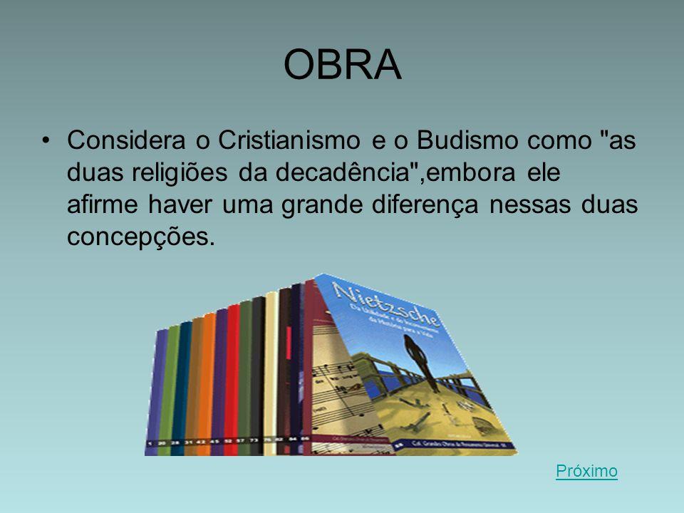 OBRA Considera o Cristianismo e o Budismo como