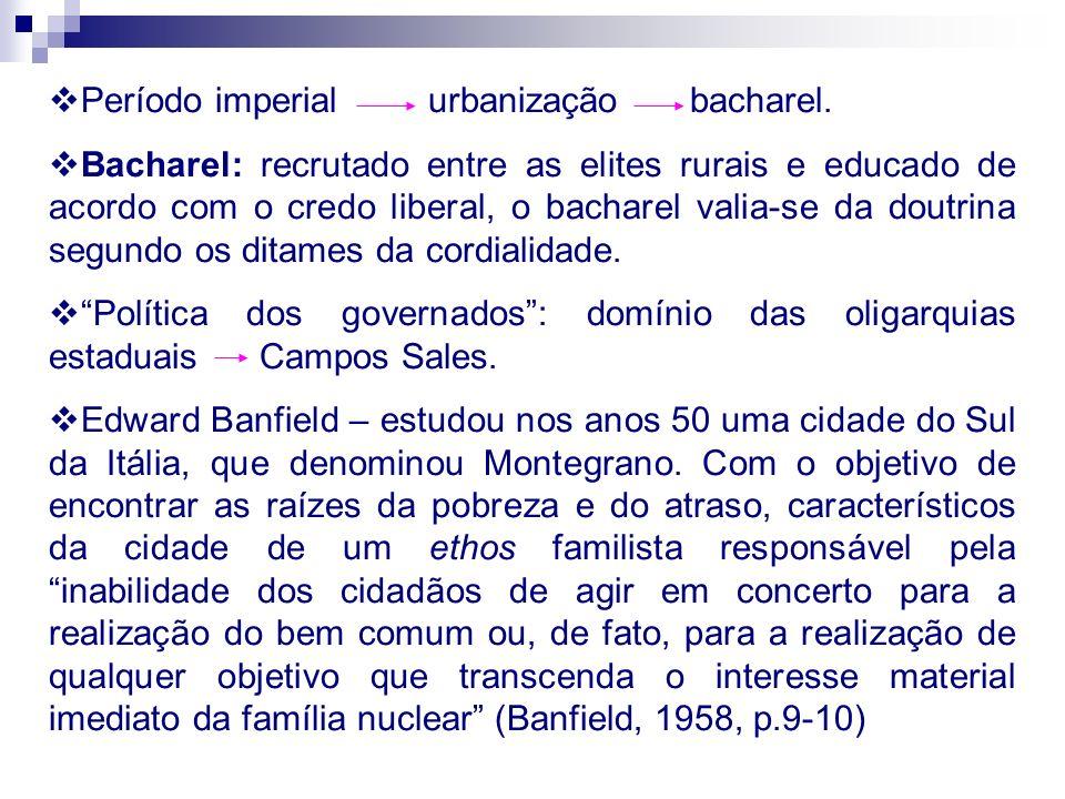 No Brasil há uma separação da política e da vida social – país legal x país real.