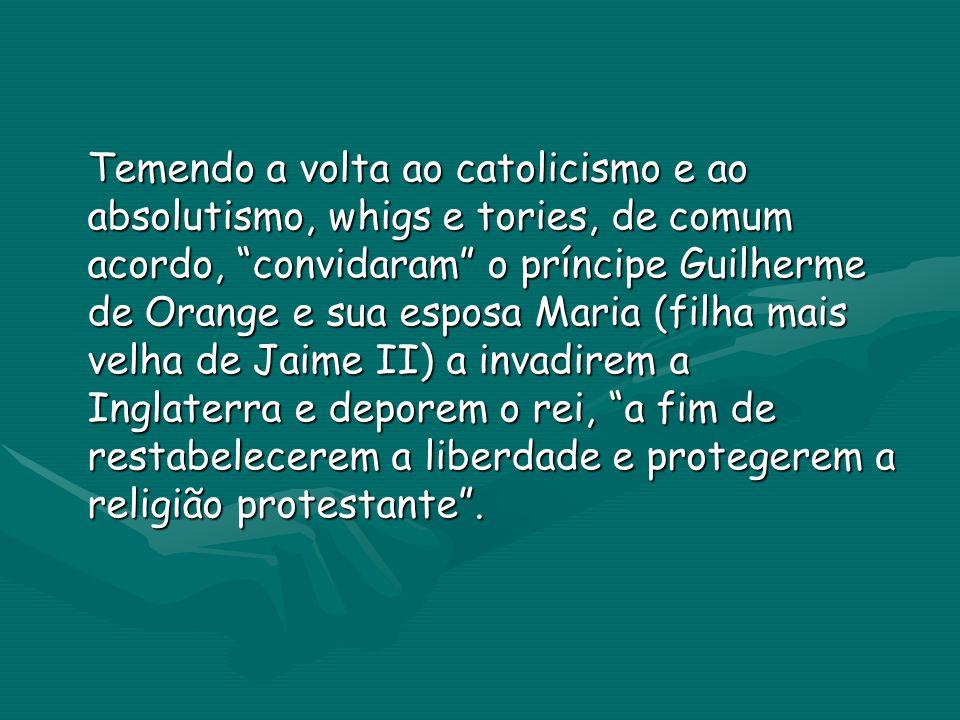 Com a passagem no parlamento da Declaração de direitos, foi tornado impossível qualquer retorno à monarquia por um católico ao circunscrever os poderes do monarca.