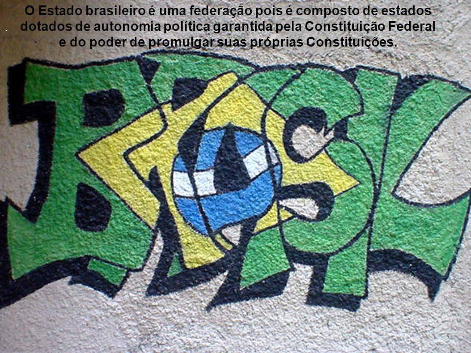 . O Estado brasileiro é uma federação pois é composto de estados dotados de autonomia política garantida pela Constituição Federal e do poder de promu