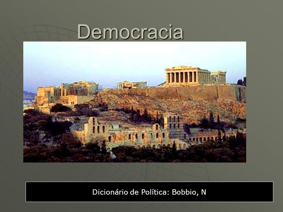 Democracia Dicionário de Política: Bobbio, N