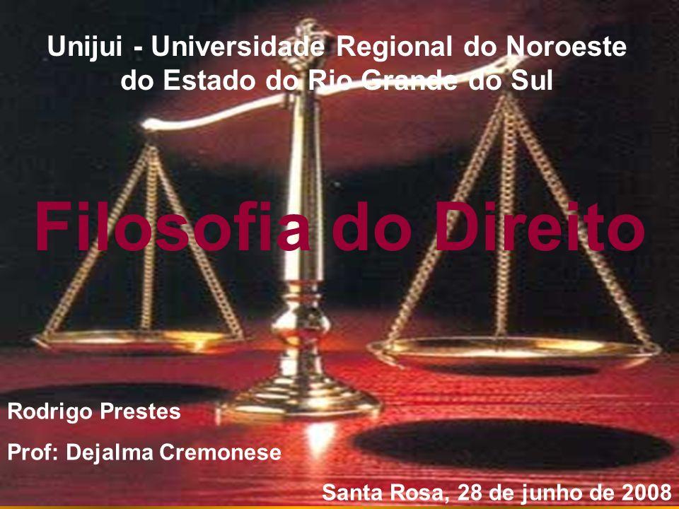 Filosofia Jurídica Direito objeto de estudo