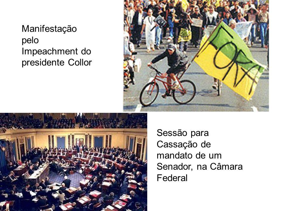 Manifestação pelo Impeachment do presidente Collor Sessão para Cassação de mandato de um Senador, na Câmara Federal