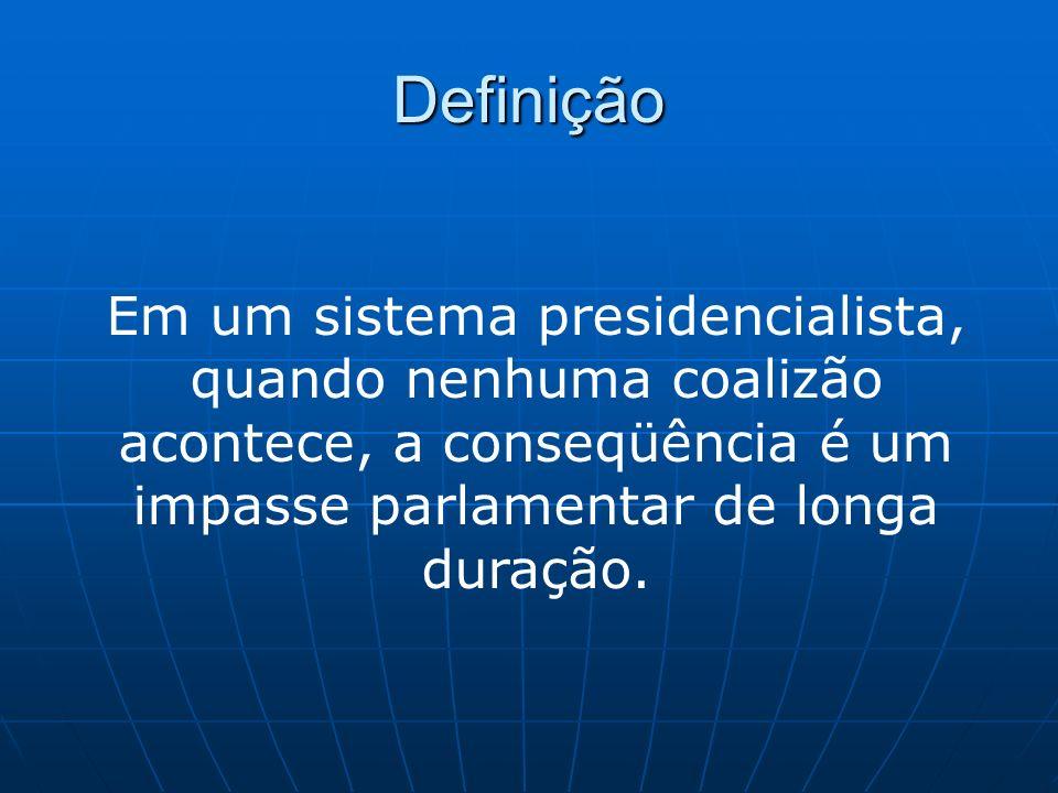 No Brasil Praticamente todos os gabinetes formados no Brasil entre os anos 1988 e 2000 tiveram políticos de mais de um partido ocupando postos ministeriais.