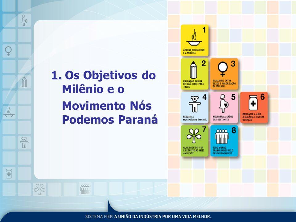 1. 1. Os Objetivos do Milênio e o Movimento Nós Podemos Paraná