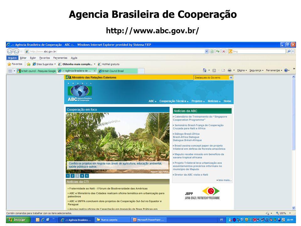 Agencia Brasileira de Cooperação http://www.abc.gov.br/