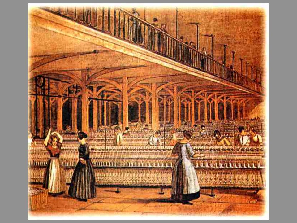 Meados do séc. XVIII: substituição das ferramentas pelas máquinas.
