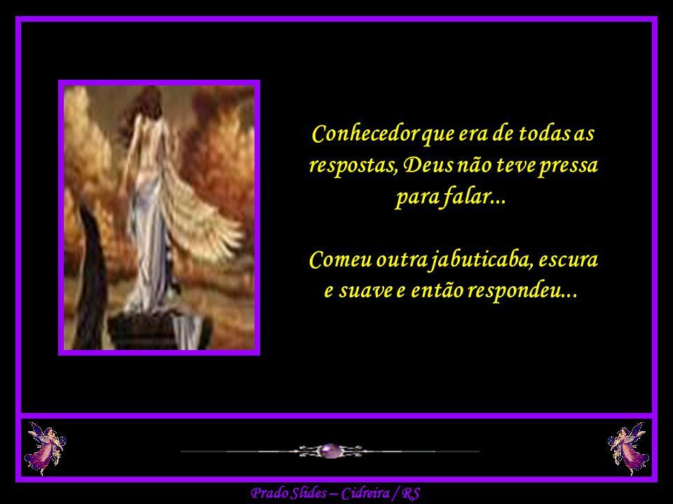 Intrigado, com a consciência absoluta de seu senhor, o anjo queria entender e perguntou: Mas por que o senhor deu aos homens apenas uma asa quando são