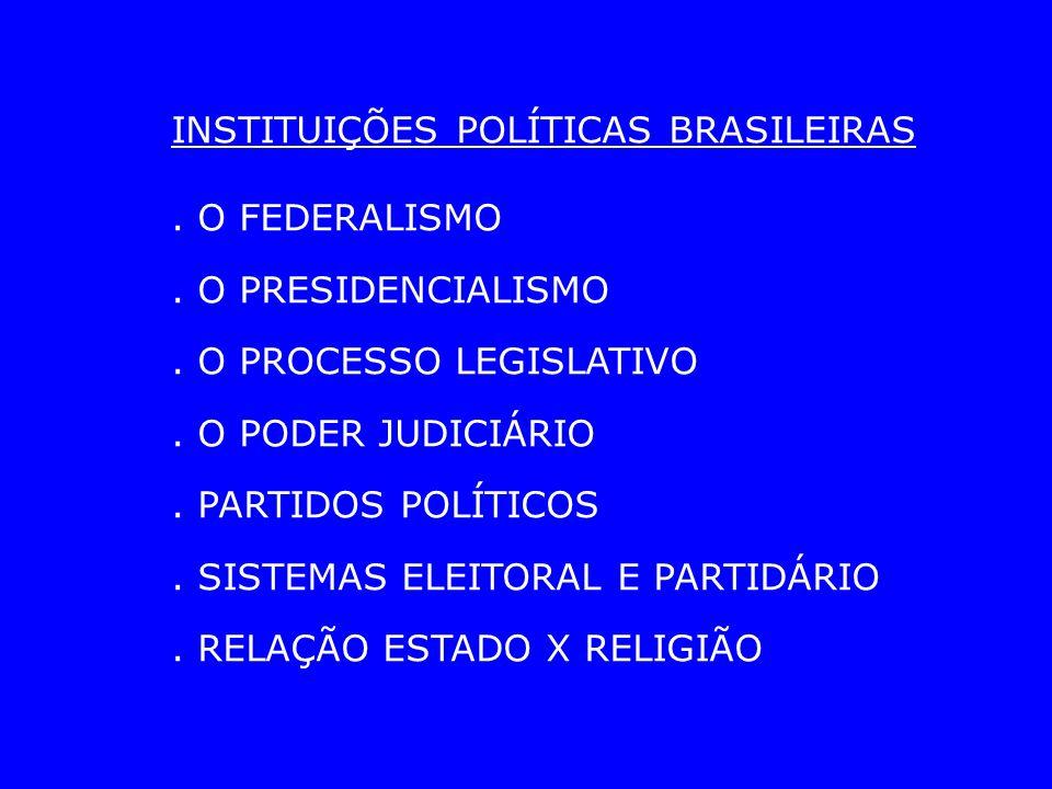 INSTITUIÇÕES POLÍTICAS BRASILEIRAS. O FEDERALISMO.