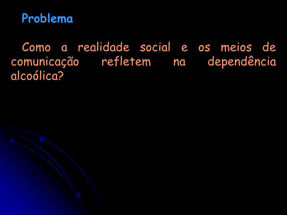 Problema Como a realidade social e os meios de comunicação refletem na dependência alcoólica?