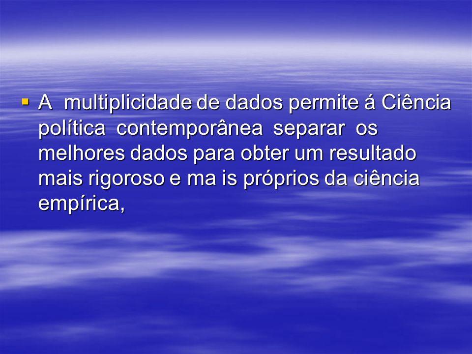 IV. AS PRINCIPAIS OPERAÇÕES DA CIÊNCIA POLÍTICA