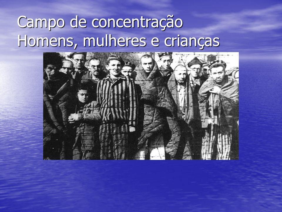 Campo de concentração Homens, mulheres e crianças