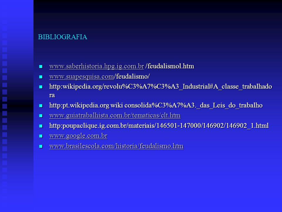 BIBLIOGRAFIA www.saberhistoria.hpg.ig.com.br /feudalismol.htm www.saberhistoria.hpg.ig.com.br /feudalismol.htm www.saberhistoria.hpg.ig.com.br www.sua