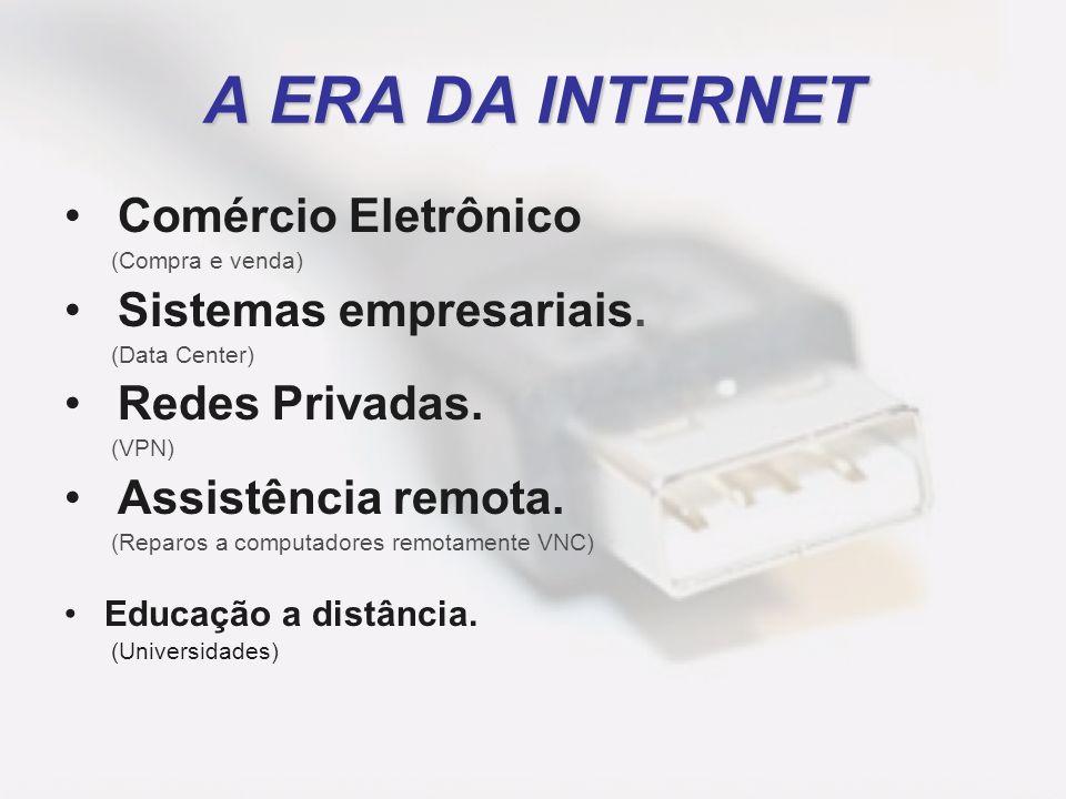 Comércio Eletrônico (Compra e venda) Sistemas empresariais. (Data Center) Redes Privadas. (VPN) Assistência remota. (Reparos a computadores remotament