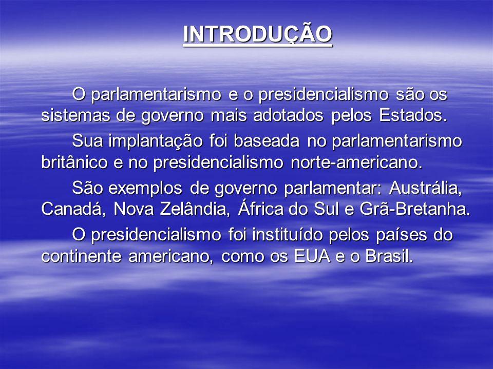 PARLAMENTARISMO NO BRASIL : No Brasil, tivemos duas experiências parlamentaristas.