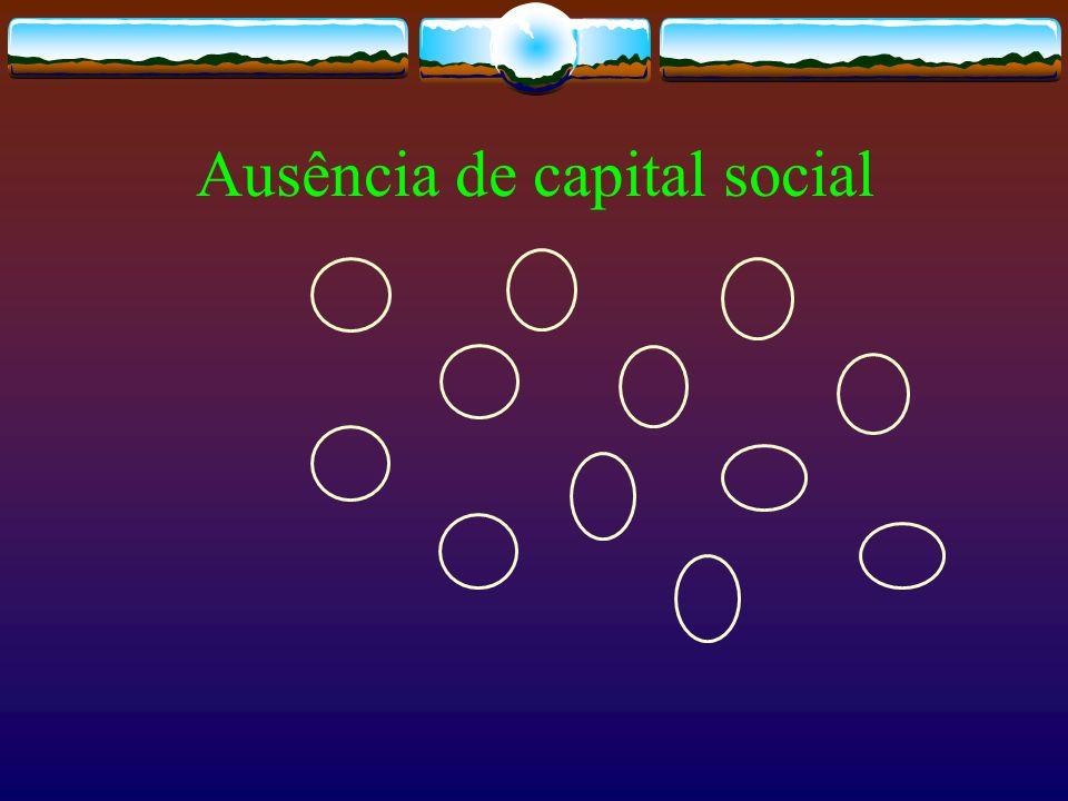 Ausência de capital social