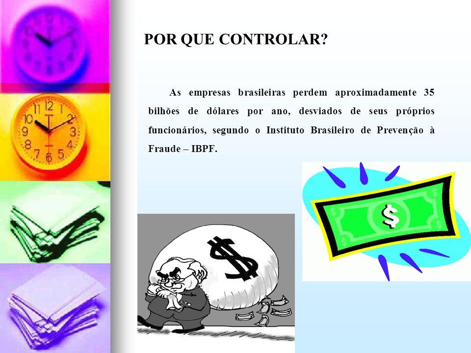 As empresas brasileiras perdem aproximadamente 35 bilhões de dólares por ano, desviados de seus próprios funcionários, segundo o Instituto Brasileiro