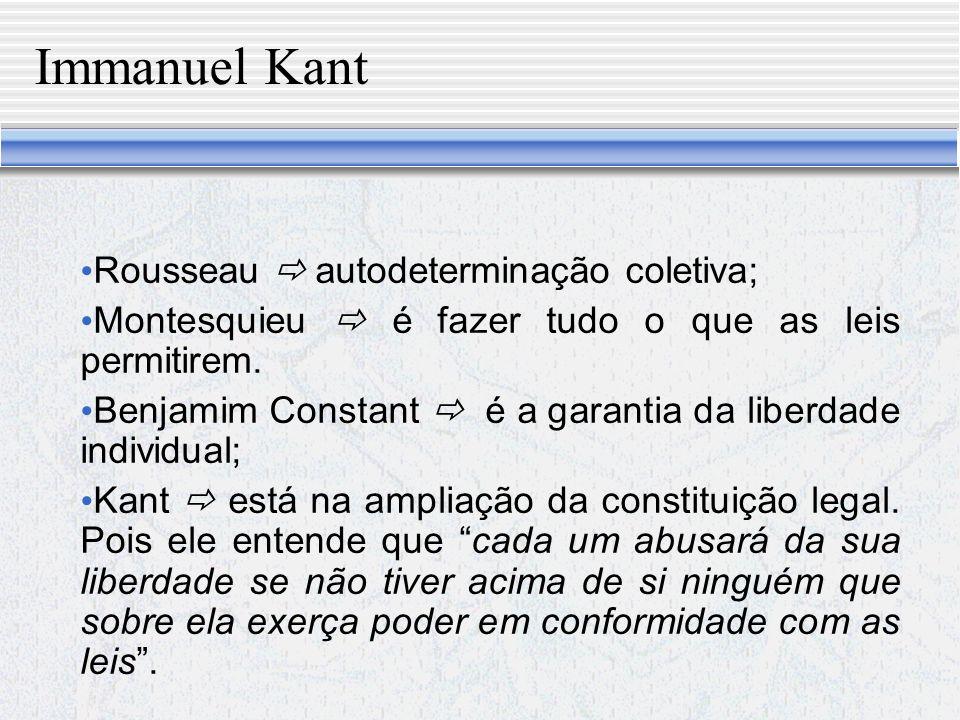 Contrato para Kant É segundo o qual todos (omnes et singuli) no povo renunciam à liberdade externa, para logo retomá-la de novo como membros de um corpo comum, vale dizer, como membros do povo enquanto considerado como Estado (universi).