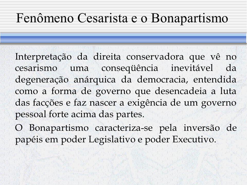Marx e a teoria das formas de governo Marx não elaborou uma teoria acabada das formas de governo, mas delineou muito bem a diferença entre duas formas de governo: Estado representativo e o bonapartismo (forma de governo pessoal, cesarista).