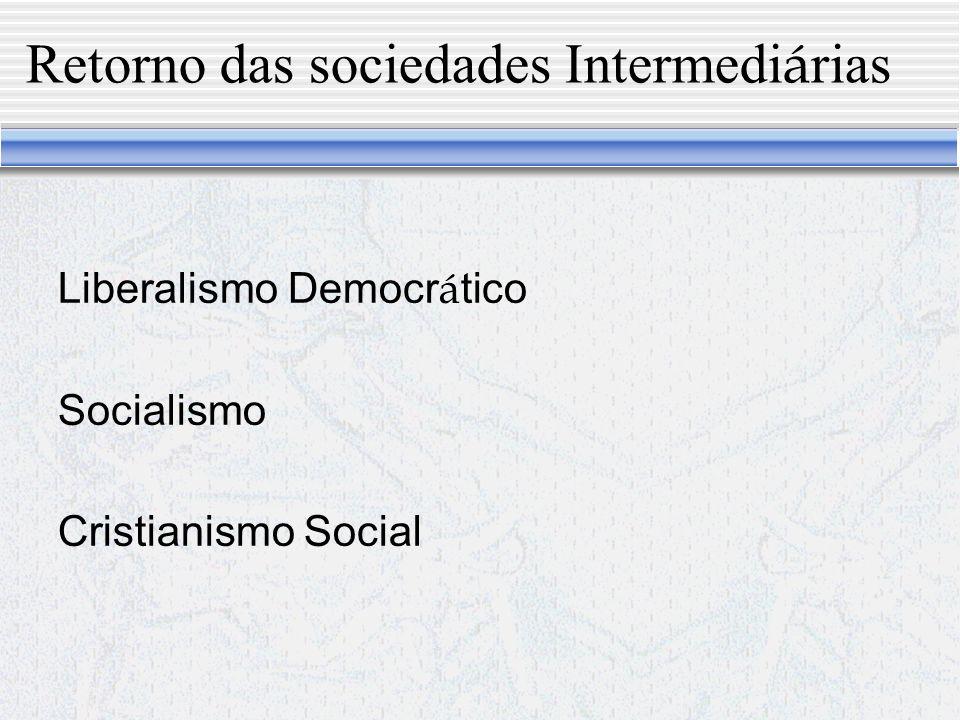 Despotismo Social O Estado liberou eliminou o despotismo pol í tico mas não o despotismo na sociedade.