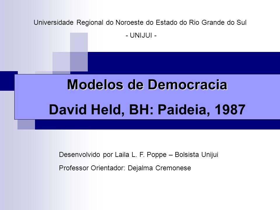 Universidade Regional do Noroeste do Estado do Rio Grande do Sul - UNIJUI - Desenvolvido por Laila L. F. Poppe – Bolsista Unijui Professor Orientador: