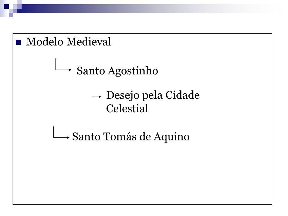 Modelo Medieval Santo Agostinho Santo Tomás de Aquino Desejo pela Cidade Celestial