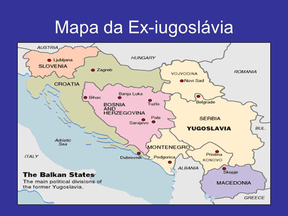 Mapa da Ex-iugoslávia