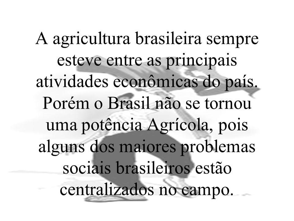 A agricultura brasileira sempre esteve entre as principais atividades econômicas do país. Porém o Brasil não se tornou uma potência Agrícola, pois alg