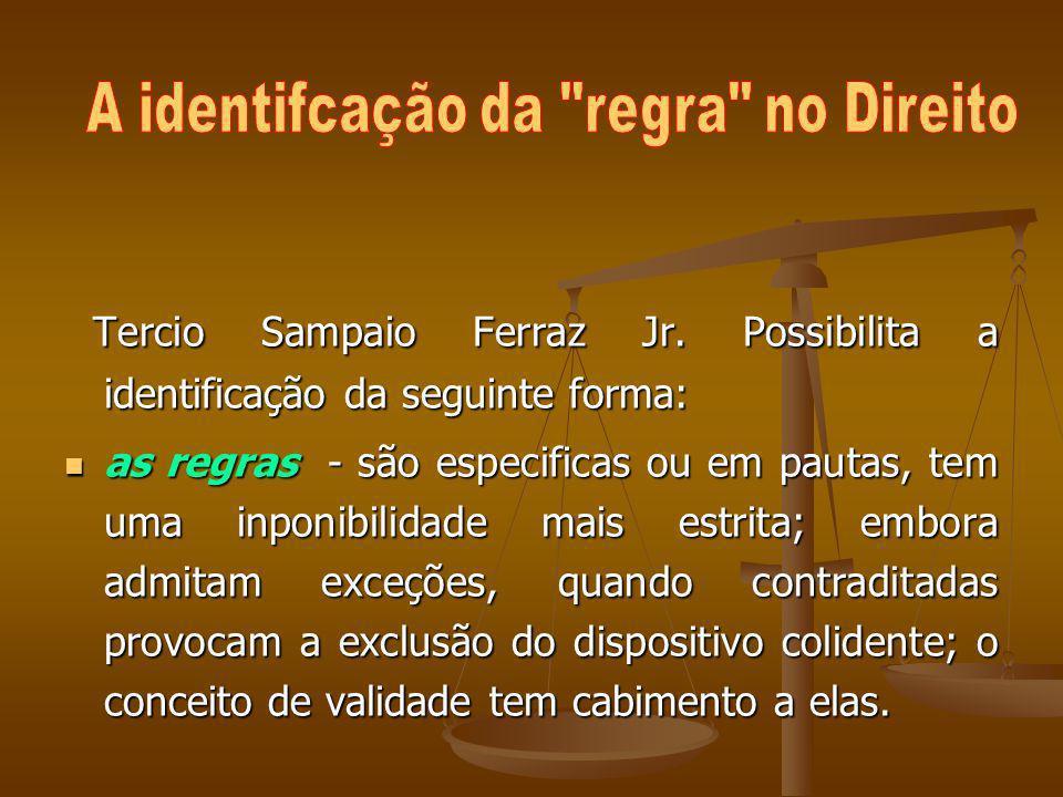 Tercio Sampaio Ferraz Jr. Possibilita a identificação da seguinte forma: Tercio Sampaio Ferraz Jr. Possibilita a identificação da seguinte forma: as r