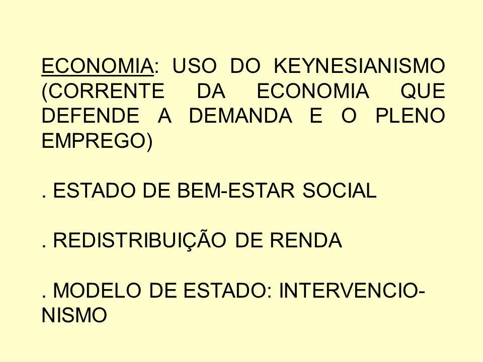 ECONOMIA E POLÍTICA DOS GOVERNOS SOCIAIS-DEMOCRATAS.