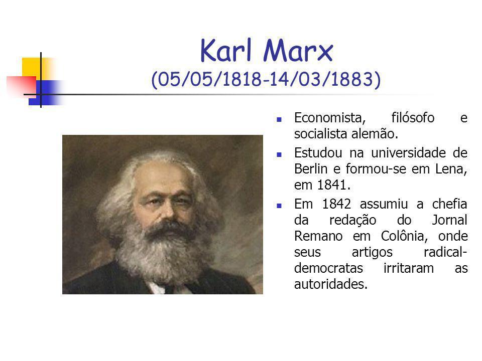 Marx vivia em situações muito limitadas com uma família que se multiplicava com rapidez, tendo de levar a vida em grande parte por meio de donativos, sobretudo de seu amigo Friedrich Engels.