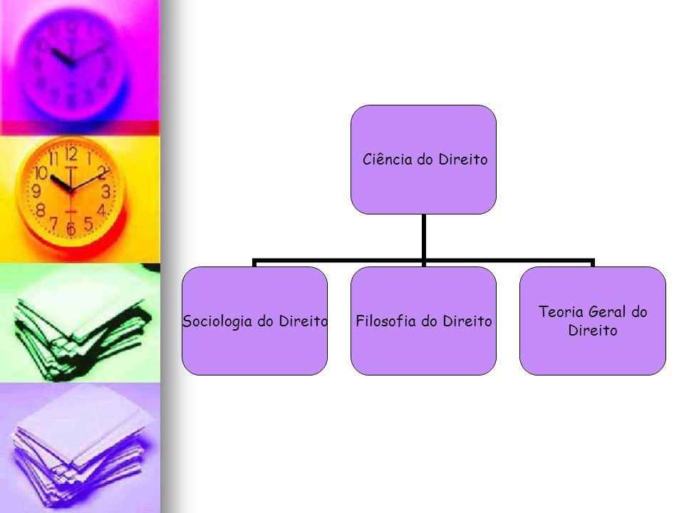 Ciência do Direito Sociologia do Direito Filosofia do Direito Teoria Geral do Direito